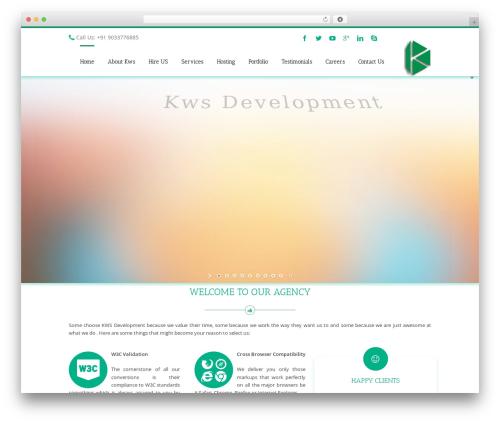 Avada WordPress theme - kwsdevelopment.com