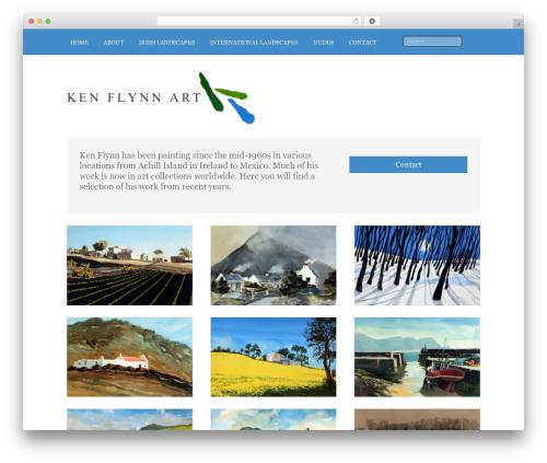 Bonjournos best WordPress template - kenflynnart.com