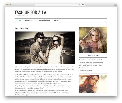 Fashionistas template WordPress - kotyrbloggen.se