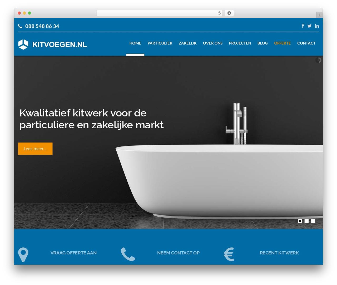 Hercules WordPress website template - kitvoegen.nl