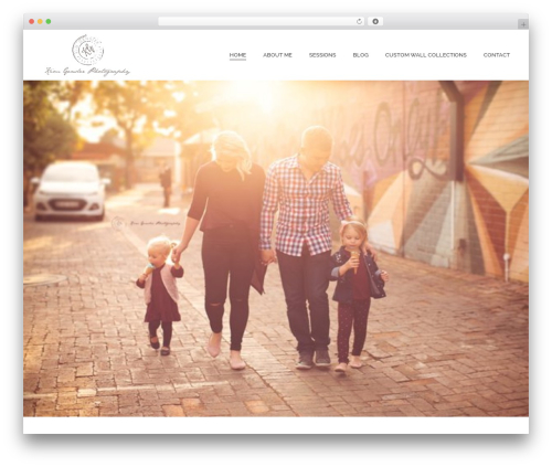 Jupiter photography WordPress theme - kgphotography.co.za