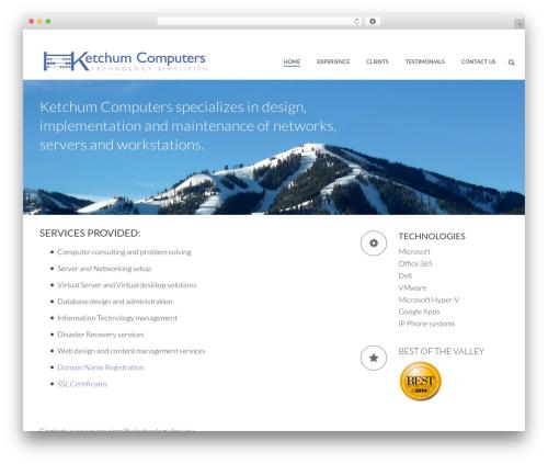 Jupiter WordPress theme design - ketchumcomputers.com