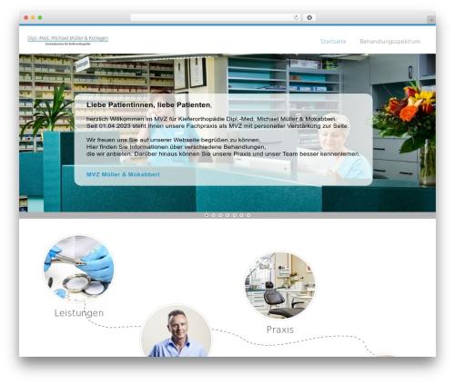 Medicom Theme WordPress theme design - kfo-muellermi.de