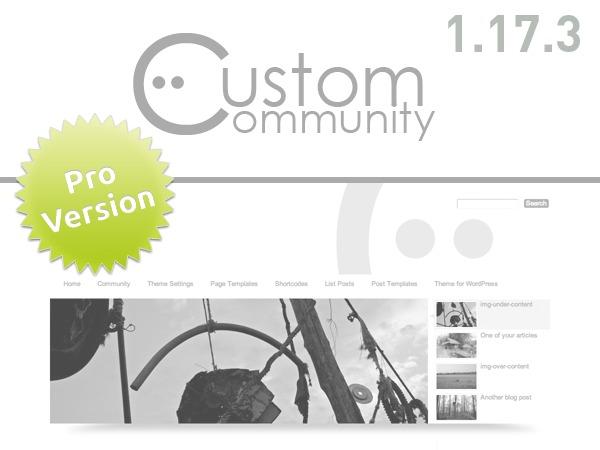 Custom Community Pro WordPress shopping theme