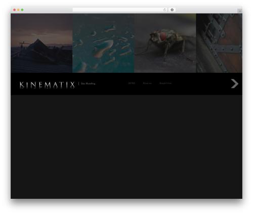 Fullscreen Schusser MOD WordPress website template - kinematix.de