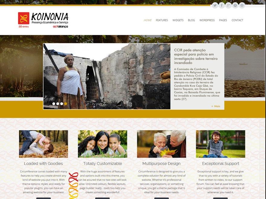 KOINONIA WordPress theme