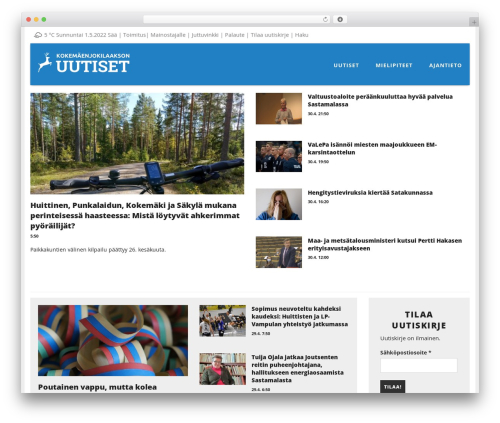 SiteOrigin Corp best WordPress template - kokemaenjokilaakso.fi
