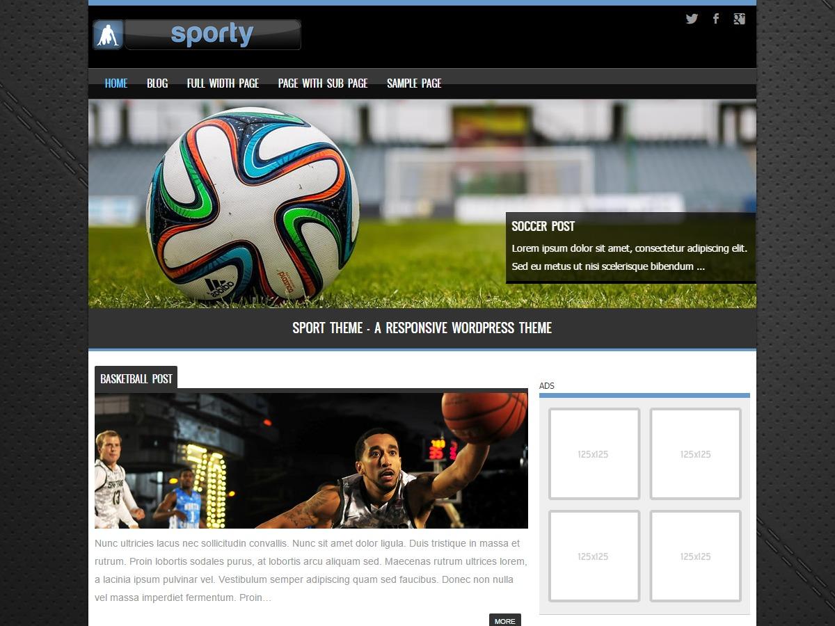 Sporty best WordPress template