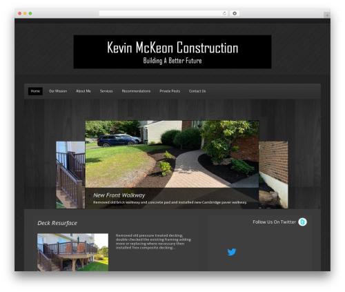 WordPress theme Destro.Pro - kevinmckeonconstruction.com