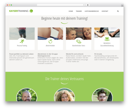 WordPress theme HealthCoach - kaysertraining.de