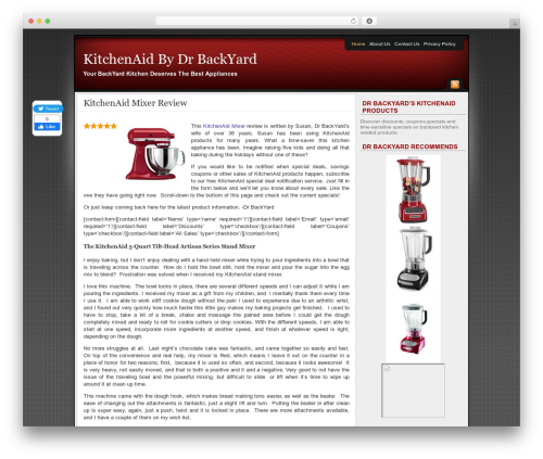 WordPress website template Affiliate Internet Marketing theme - kitchenaid.drbackyard.com
