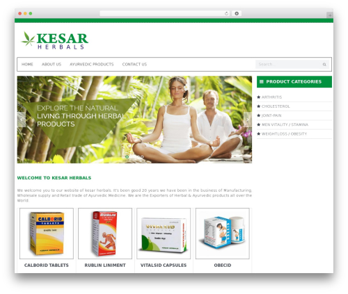 WP theme WPO Shopping - kesarherbals.com