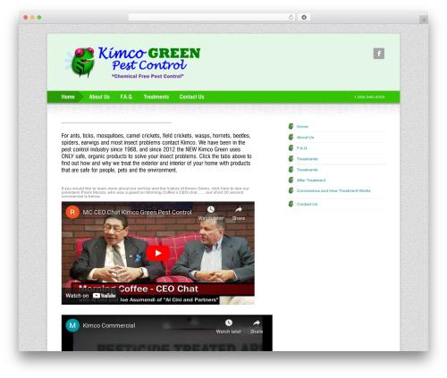 Freestyle WordPress page template - kimcogreen.com