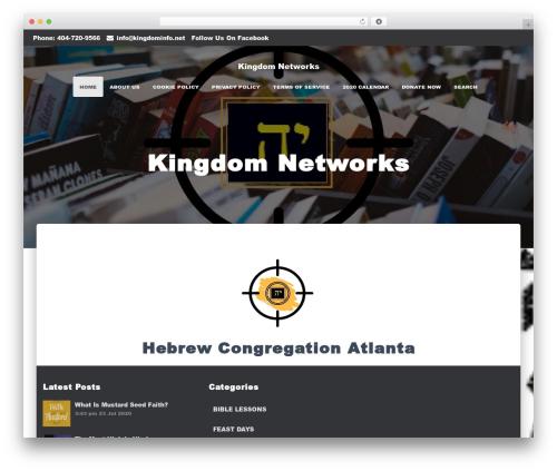Hestia premium WordPress theme - kingdominfo.net/truth