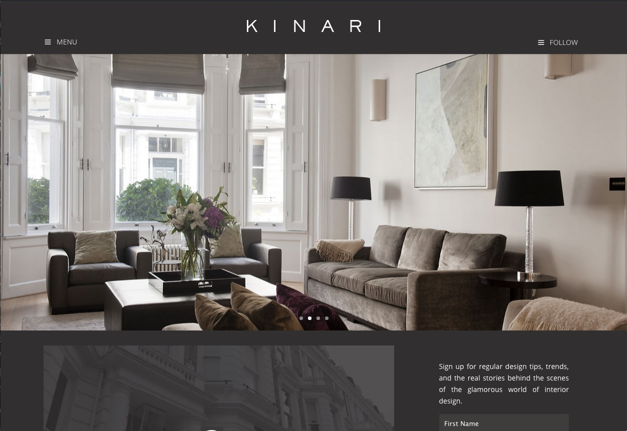 KINARI WordPress theme design