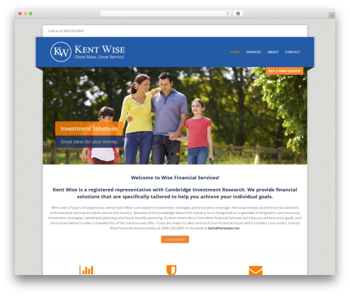 Theme WordPress Corpo - kentwise.net