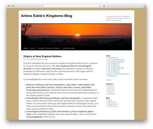 Twenty Ten free WP theme - kingdomsblog.arleneeakle.com