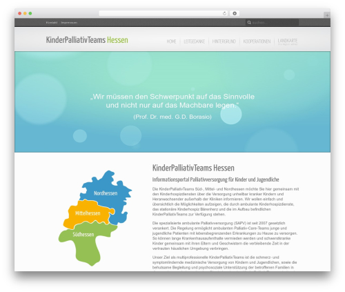 WordPress template Inspire - kinderpalliativteam.de