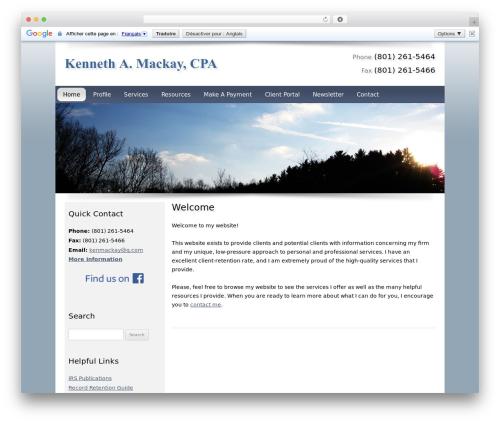 WordPress theme Customized - kennethmackaycpa.com