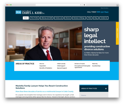 WordPress theme Project X v15 - kiddlawfirm.com