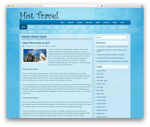 EducationBlog WordPress blog template - dublin.hot-travel.org