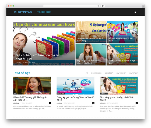 Newspaper WordPress theme design - khotintuc.com