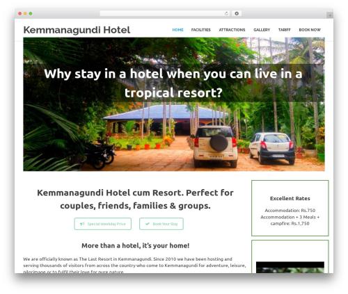 Poseidon free WordPress theme - kemmanagundihotels.com