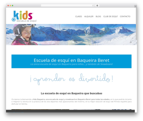 Theme WordPress Satellite7 - kidsbaqueira.com