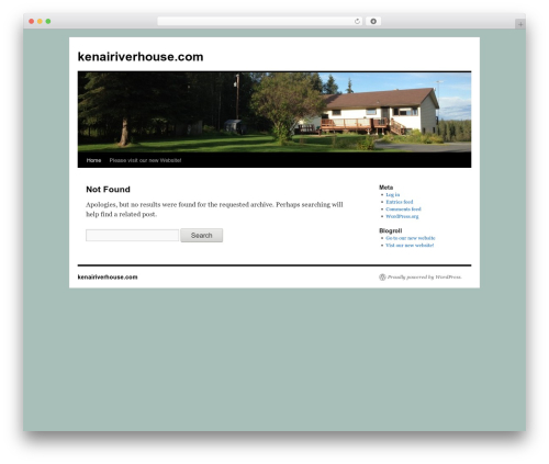 Twenty Ten free WordPress theme - kenairiverhouse.com
