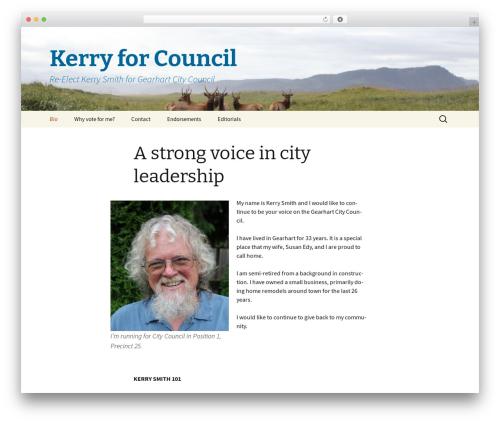 Twenty Thirteen WordPress template free - kerryforcouncil.com