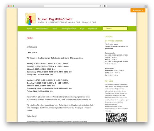 twentyeleven-child WordPress theme - kinderarzt-elbvororte.de