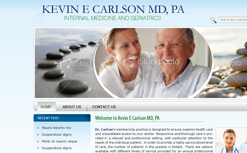 WordPress website template Kevin