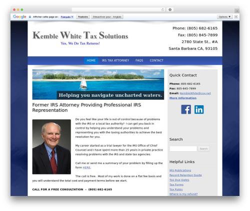 Customized top WordPress theme - kemblewhite.com