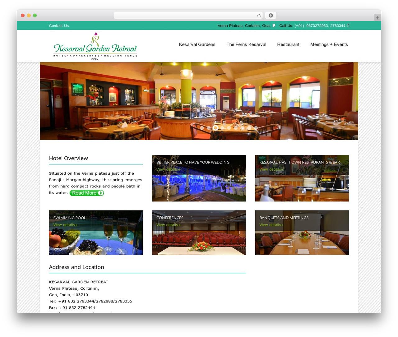 Hotec landscaping WordPress theme - kesarval.com