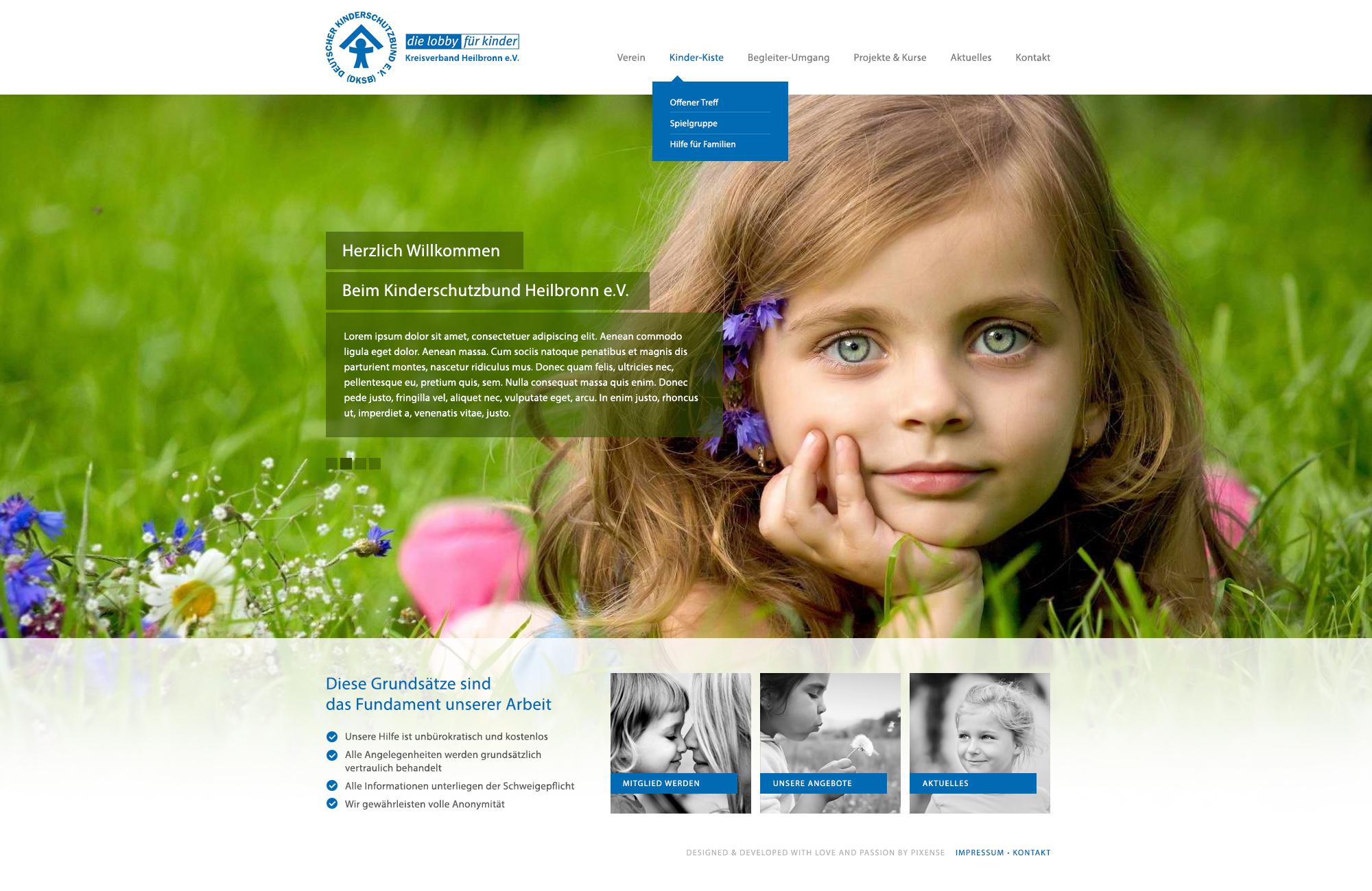 Kinderschutzbund Heilbronn premium WordPress theme