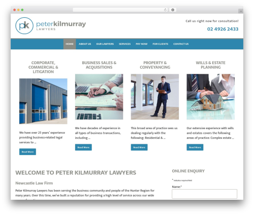 Minimum Pro Child 001 WordPress theme - kilmurraylawyers.com.au