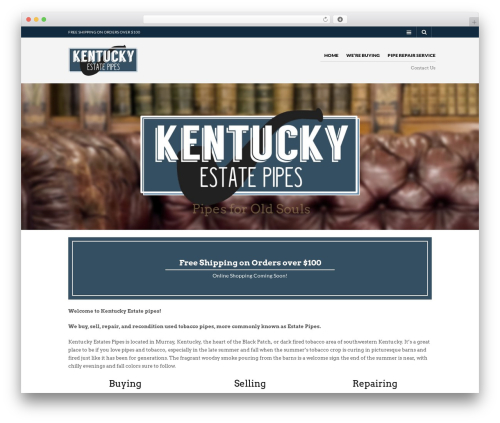 The Retailer WordPress theme - kentuckyestatepipes.com