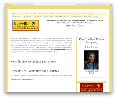 WordPress theme Genesis - kerrvillehomelistings.com