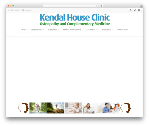 Best WordPress template Envision - kendalhouseclinic.co.uk