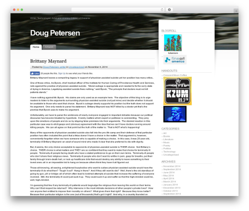 Fusion WordPress theme - doug-petersen.com