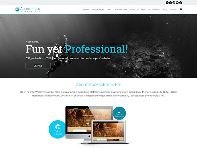 AccessPress Staple Pro wallpapers WordPress theme