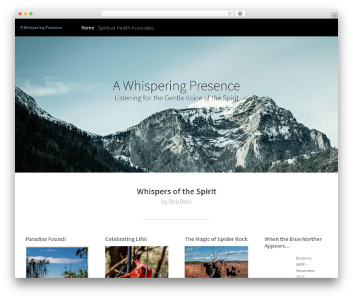 Altitude WordPress page template - whisperingpresence.com