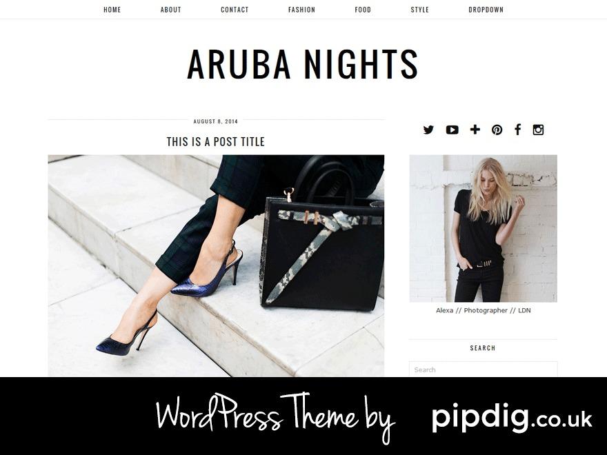 Aruba Nights (pipdig) WordPress ecommerce template