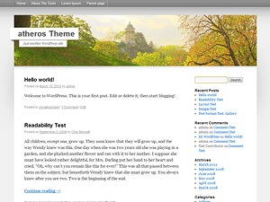 atheros WordPress theme