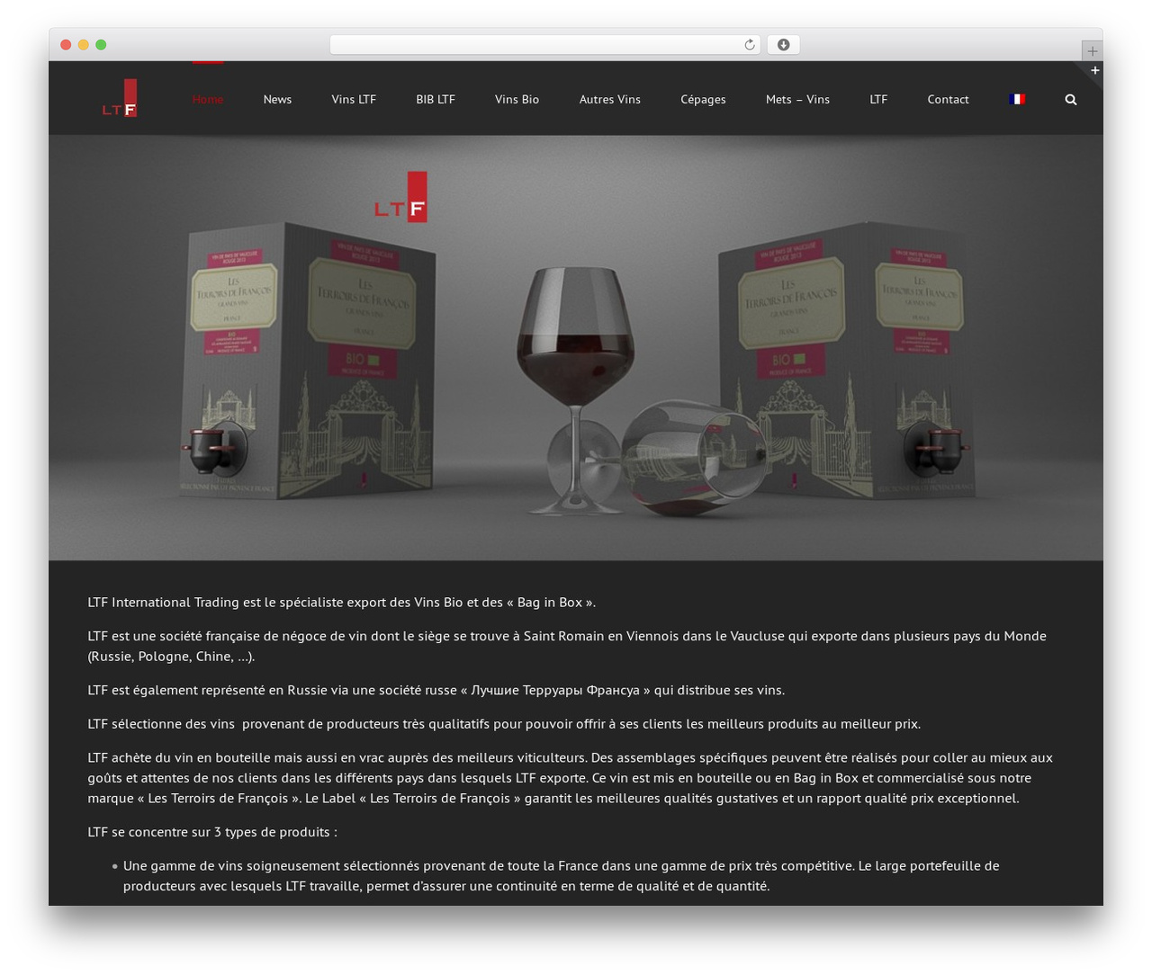 Avada top WordPress theme - wine-ltf.com