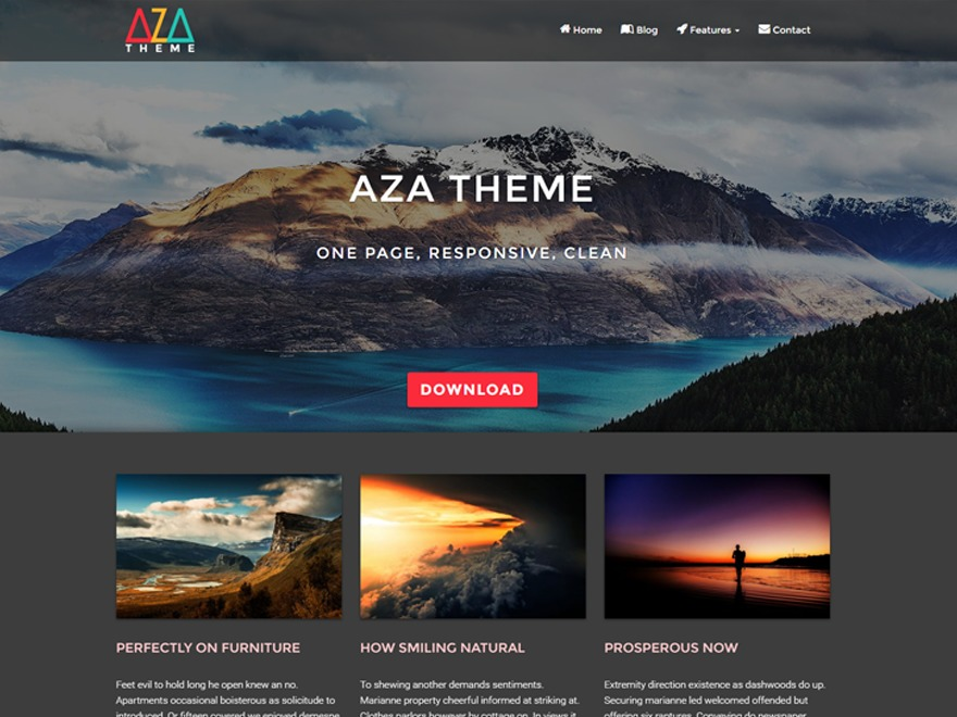 AZA Lite WordPress template free