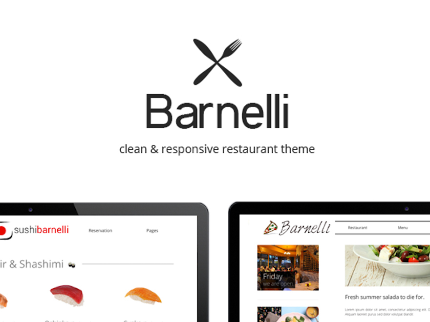 Barnelli WordPress template for business