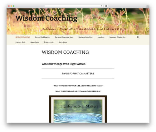 Best WordPress template Twenty Thirteen - wisdomcoaching.net