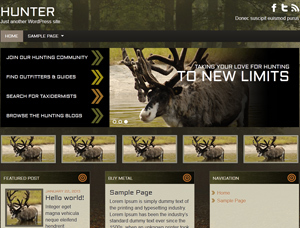 Best WordPress theme Hunter Custom Theme
