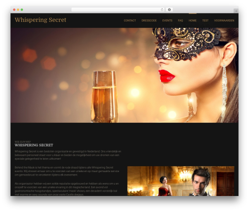 Best WordPress theme Leisure - whisperingsecret.com